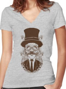 Steampunk man Women's Fitted V-Neck T-Shirt