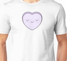 Lilac Candy Heart - XOXO Unisex T-Shirt