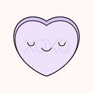 Lilac Candy Heart - XOXO by kimvervuurt