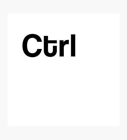 Ctrl Keyboard Laptop Computer Photographic Print