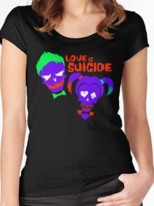 Love is Suicide Women's Fitted Scoop T-Shirt