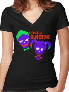 Love is Suicide Women's Fitted V-Neck T-Shirt