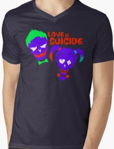 Love is Suicide Mens V-Neck T-Shirt