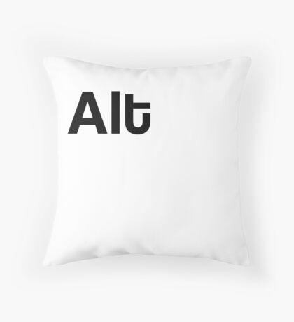 Alt Keyboard Laptop Computer Throw Pillow