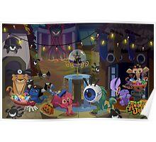 Animal Jam Halloween Poster Poster