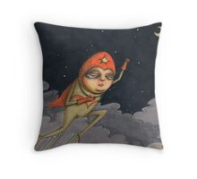 Captain Enthusiasm Throw Pillow