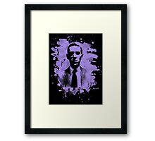 H. P. Lovecraft Tribute (violet) Framed Print