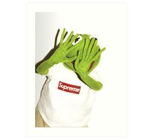 Frog for Supreme Media Cases, Pillows, and More. Art Print