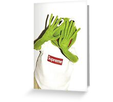 Frog for Supreme Media Cases, Pillows, and More. Greeting Card