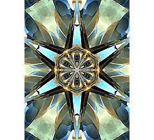 Abstract Earth Tones Emblem Photographic Print