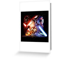 New Lego Star Wars The Force Awakens Movie Poster Greeting Card