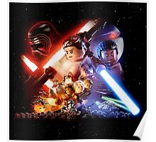 New Lego Star Wars The Force Awakens Movie Poster Poster
