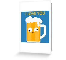 Drunk Beer Greeting Card