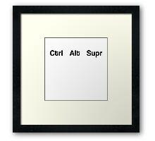 Ctrl Alt Supr laptop Framed Print
