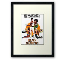 Black Shampoo Framed Print