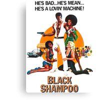 Black Shampoo Canvas Print