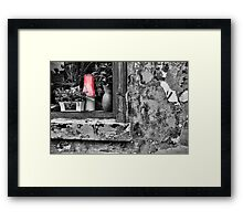 Red Lamp Shade Framed Print