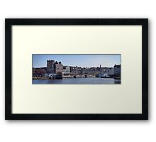Looking along The Shore Framed Print