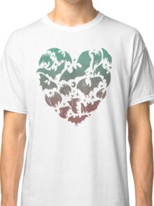 Bat Heart; blue/pink ombre Classic T-Shirt