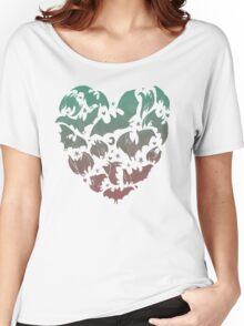 Bat Heart; blue/pink ombre Women's Relaxed Fit T-Shirt