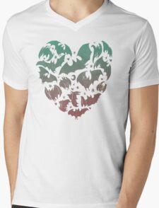 Bat Heart; blue/pink ombre Mens V-Neck T-Shirt