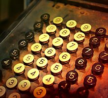Antique Adding Machine Keys - photography by art64