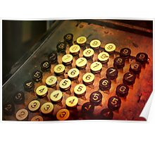 Antique Adding Machine Keys - photography Poster