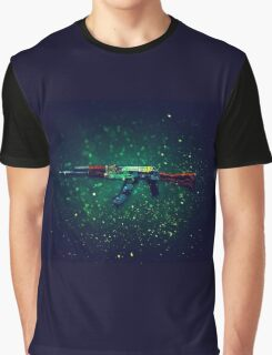 AK-47 Fire Serpent Art Graphic T-Shirt