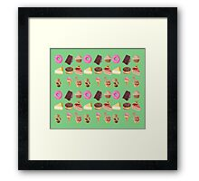 Retro cakes Framed Print