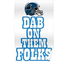 DAB ON - Blue White Poster