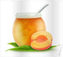 Apricot or peach jam Poster