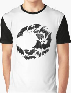 Bat Moon Graphic T-Shirt