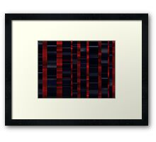 Waves black and red Framed Print