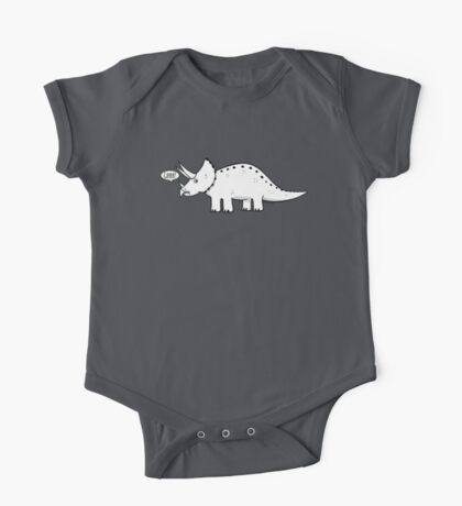 Cartoon Triceratops One Piece - Short Sleeve