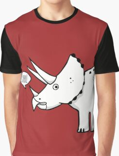 Cartoon Triceratops Graphic T-Shirt