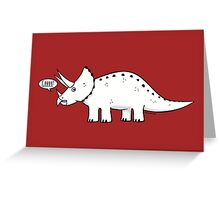 Cartoon Triceratops Greeting Card