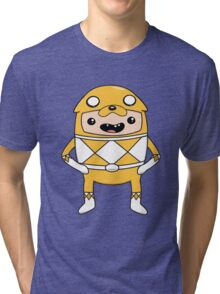 Morphin' Time - Adventure Time Power Rangers Jake Suit Tri-blend T-Shirt