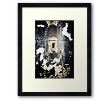 The wall time forgot... Framed Print