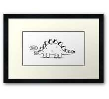 Cartoon Stegosaurous Framed Print