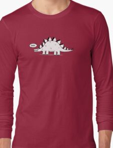 Cartoon Stegosaurous Long Sleeve T-Shirt