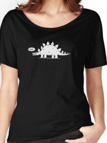 Cartoon Stegosaurous Women's Relaxed Fit T-Shirt