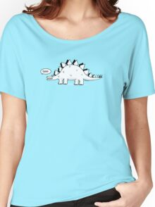 Cartoon Stegosaurus Women's Relaxed Fit T-Shirt