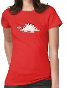 Cartoon Stegosaurus Womens Fitted T-Shirt