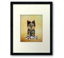 Teddy - Yorkshire Terrier Puppy Framed Print