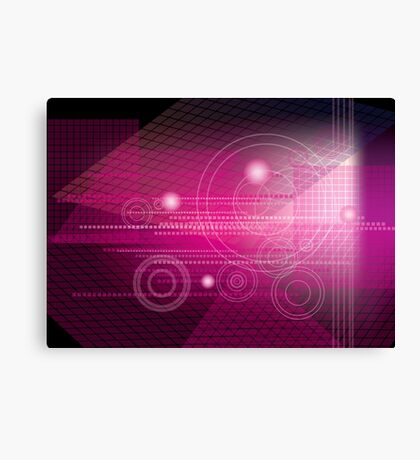 Abstract geometric background Canvas Print