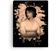 Mary Shelley (Wollstonecraft) Tribute (burnt) Canvas Print