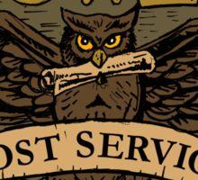 Owl Postal Service Sticker
