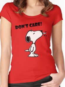 "Snoopy ""Don't Care!"" Women's Fitted Scoop T-Shirt"