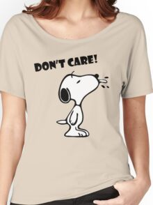 "Snoopy ""Don't Care!"" Women's Relaxed Fit T-Shirt"