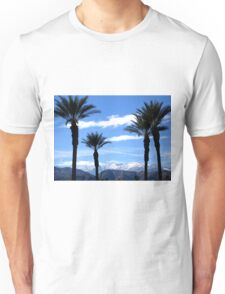 PALM TREES AND THE SNOWY MOUNTAINS Unisex T-Shirt